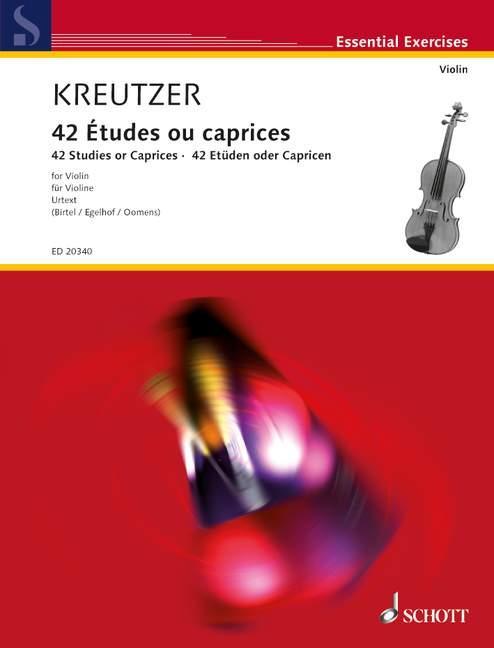 Etüden für Violine als Buch von Rodolphe Kreutzer
