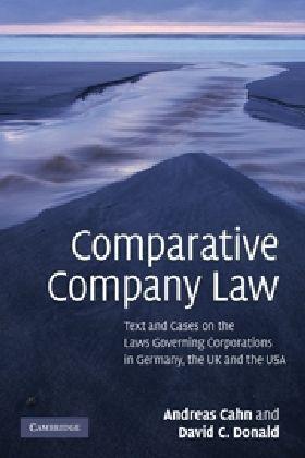 Comparative Company Law als Buch von Andreas Cahn, David C. Donald