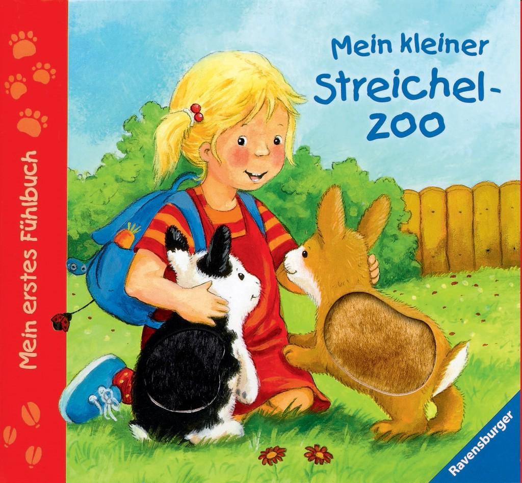 Mein erstes Fühlbuch: Mein kleiner Streichelzoo als Buch von Sandra Grimm