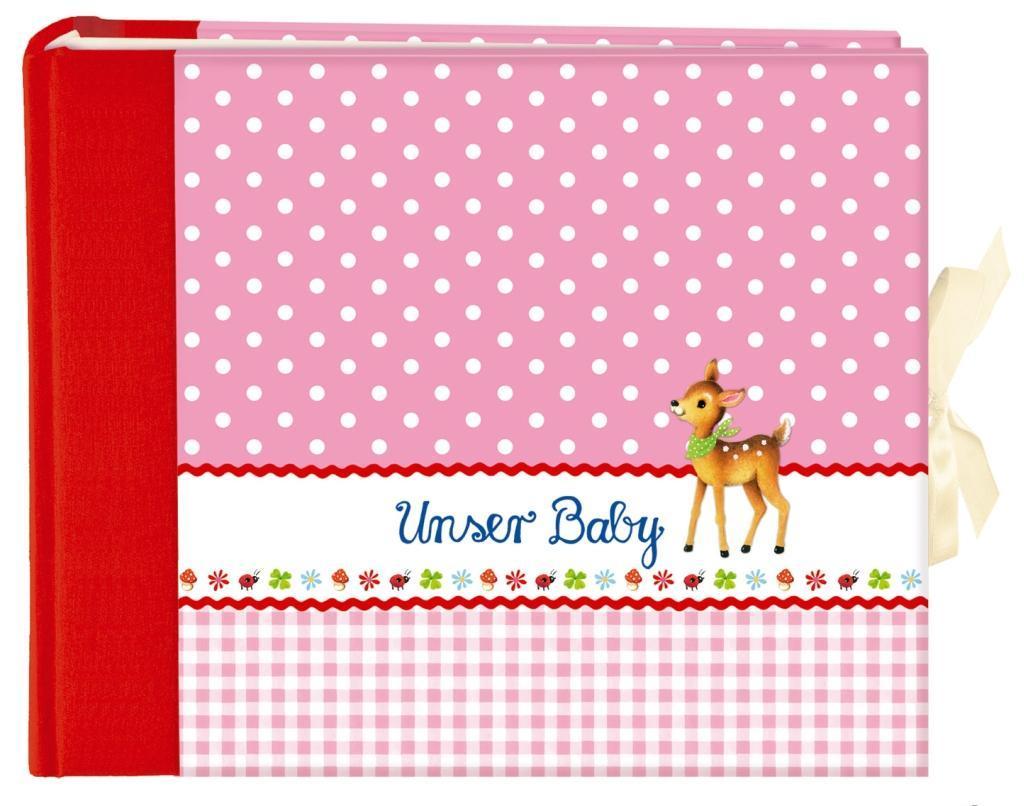 Unser Baby (rosa). Großes Foto-Eintragalbum als Buch von