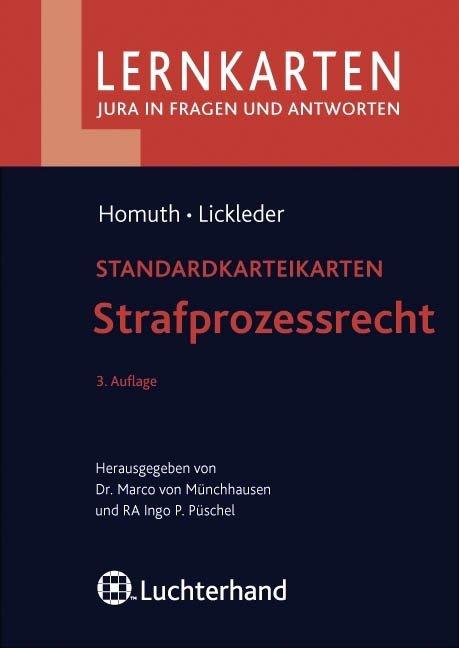 Strafprozessrecht als Buch von Andreas Homuth, Andreas Lickleder