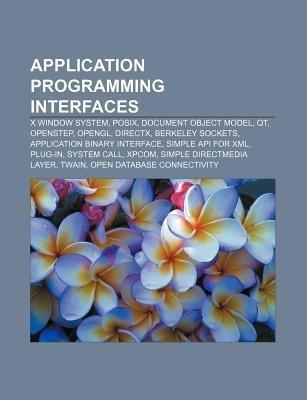 Application programming interfaces als Taschenb...