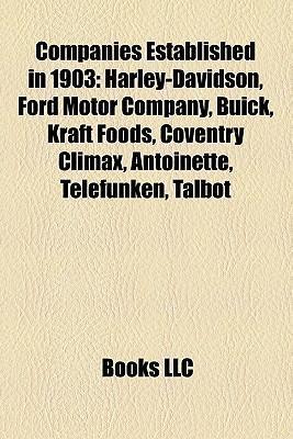 Companies established in 1903 als Taschenbuch von