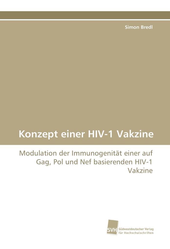 Konzept einer HIV-1 Vakzine als Buch von Simon Bredl