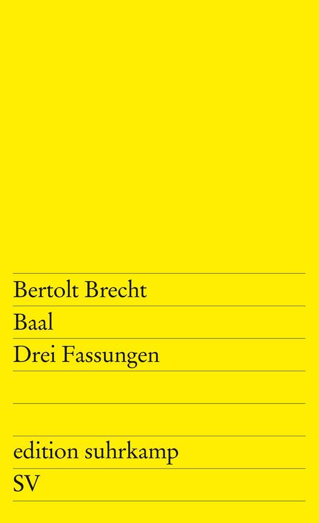 Baal als Taschenbuch von Bertolt Brecht