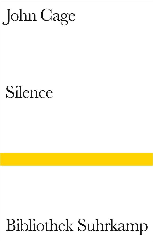 Silence als Buch von John Cage
