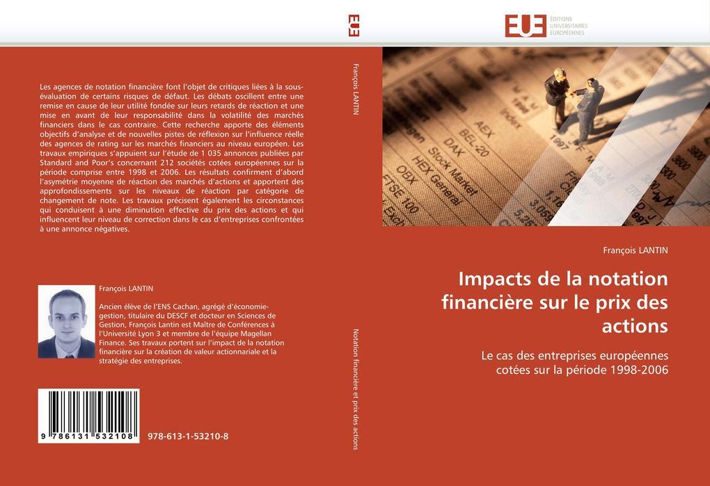 Impacts de la notation financière sur le prix des actions als Buch von François LANTIN