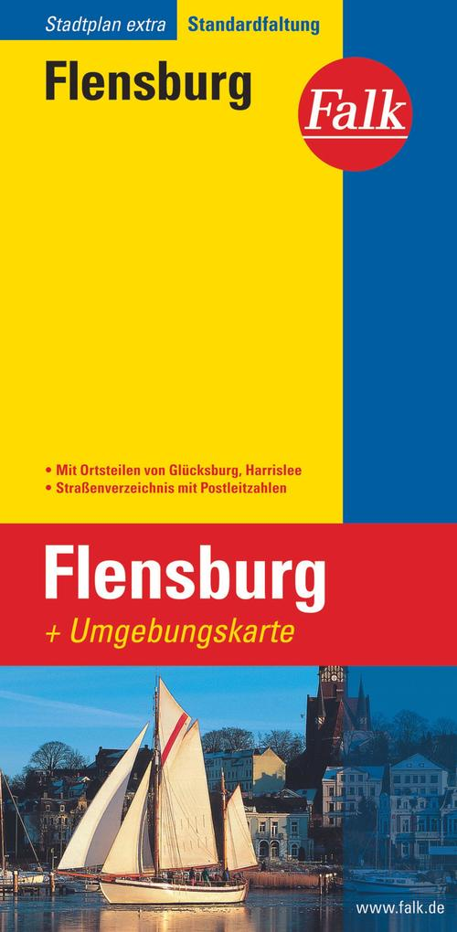 Falk Stadtplan Extra Standardfaltung Flensburg ...