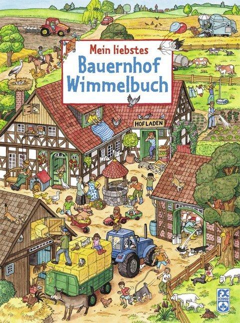 Mein liebstes Bauernhof-Wimmelbuch als Buch von Julia Straus