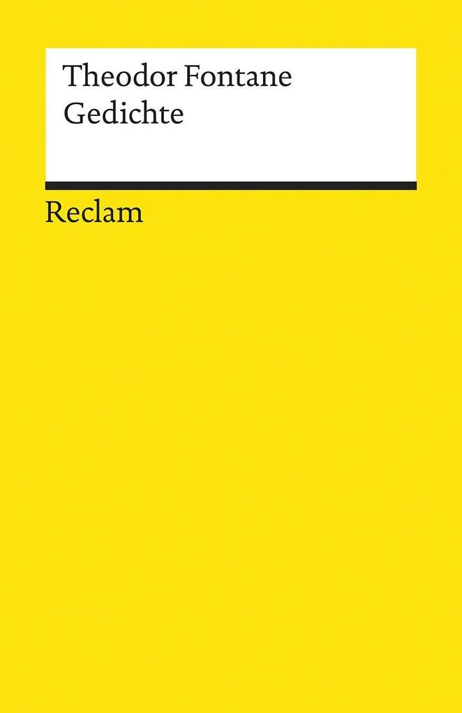 Gedichte als Taschenbuch von Theodor Fontane