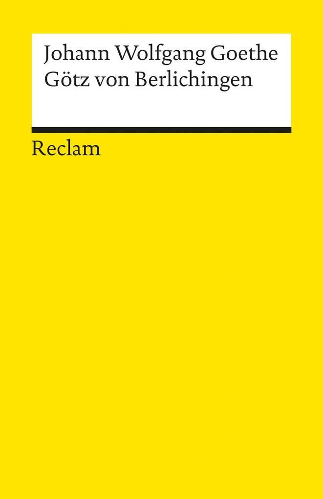 Götz von Berlichingen als Taschenbuch von Johann Wolfgang von Goethe