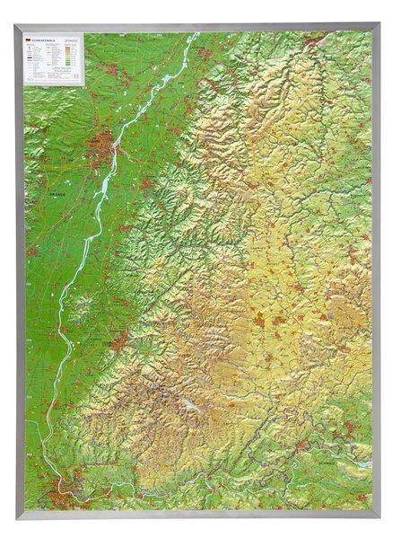 Schwarzwald 1 : 200 000 mit Aluminium Rahmen als Buch von André Markgraf, Mario Engelhardt