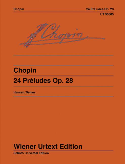 24 Préludes als Buch von Frédéric Chopin