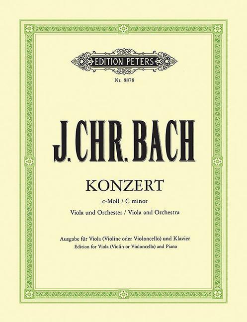 Konzert für Viola und Orchester c-Moll als Buch von Johann Christian Bach