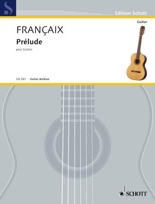 Prélude als Buch von Jean Françaix