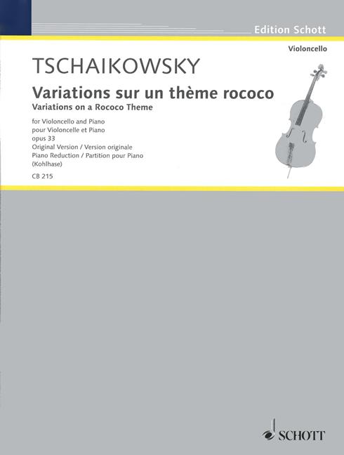 Variations sur un thème rococo als Buch von Peter Iljitsch Tschaikowsky