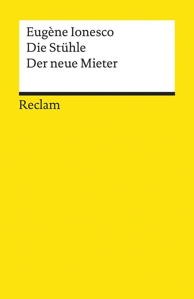 Die Stühle / Der neue Mieter als Taschenbuch von Eugene Ionesco