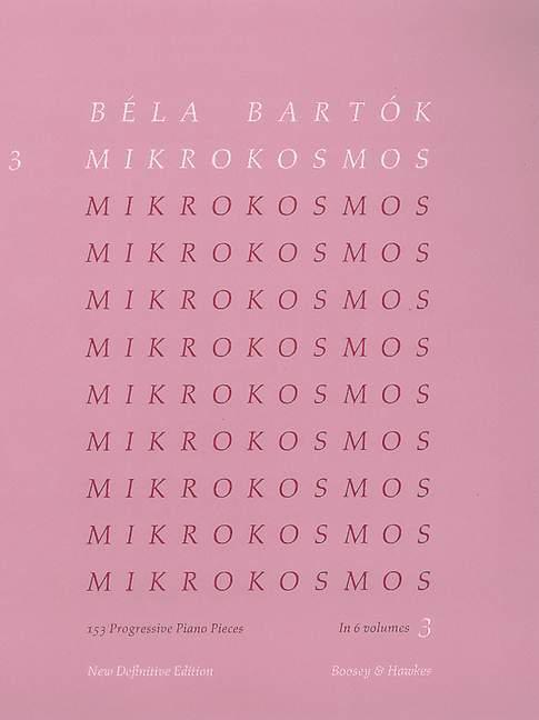 Mikrokosmos 3 als Buch von Béla Bartók