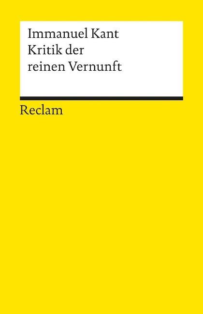 Kritik der reinen Vernunft als Taschenbuch von Immanuel Kant