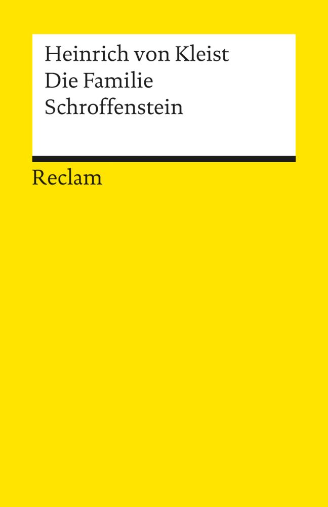Die Familie Schroffenstein als Taschenbuch von Heinrich von Kleist