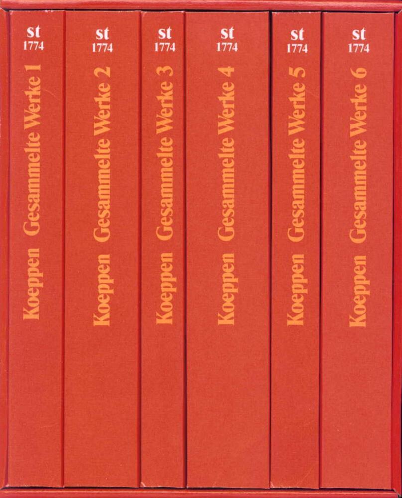 Gesammelte Werke in sechs Bänden als Taschenbuch von Wolfgang Koeppen