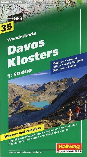 Davos-Klosters Wanderkarte 1 : 50 000 als Buch von