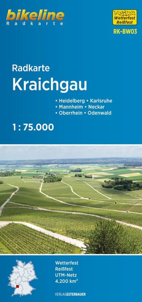 Bikeline Radkarte Deutschland Kraichgau 1 75 000 als Buch von
