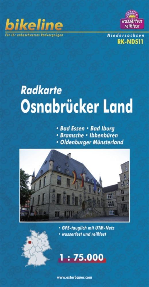 Bikeline Radkarte Deutschland Osnabrück und Umg...