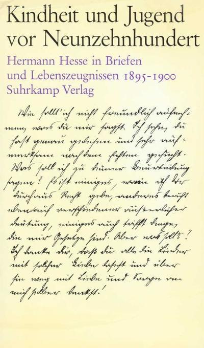 Kindheit und Jugend vor Neunzehnhundert II als Buch von Hermann Hesse, Gerhard Kirchhoff
