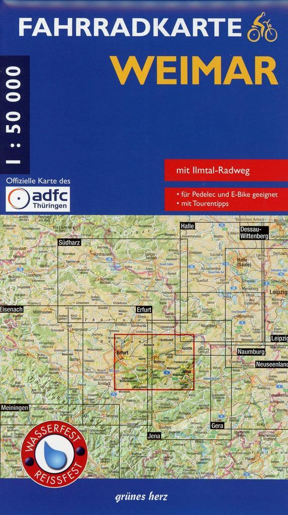 Weimar Fahrradkarte als Buch von