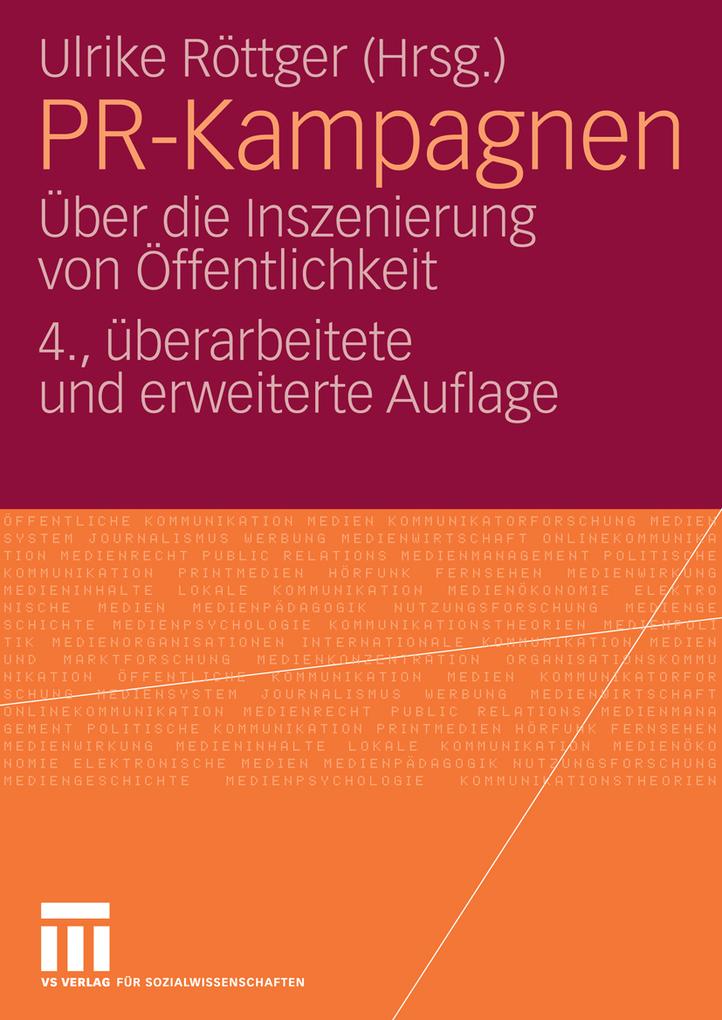 PR-Kampagnen als eBook von Ulrike Röttger