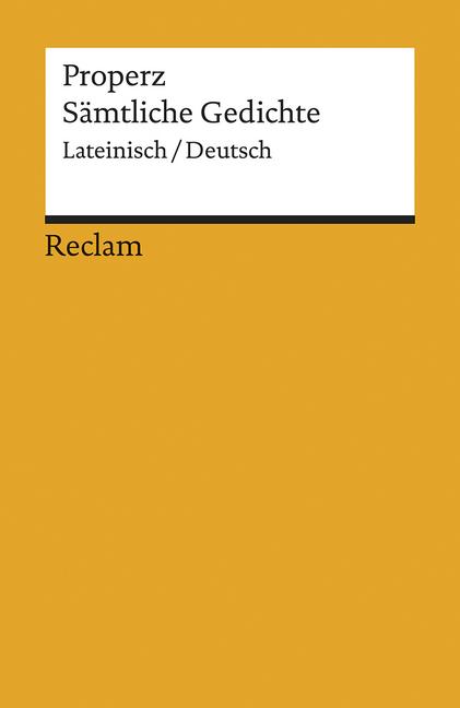 Sämtliche Gedichte als Taschenbuch von Properz