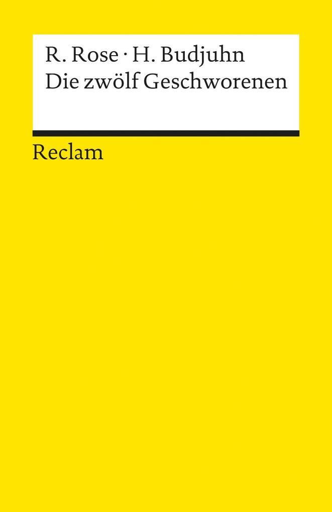 Die zwölf Geschworenen als Taschenbuch von Reginald Rose, Horst Budjuhn