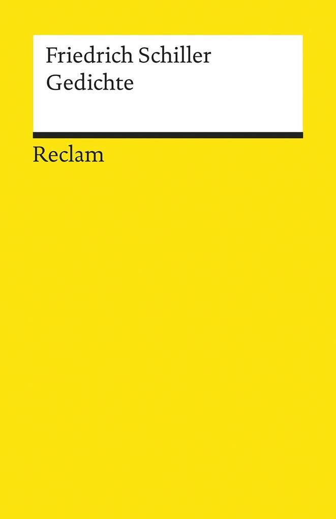 Gedichte als Taschenbuch von Friedrich von Schiller