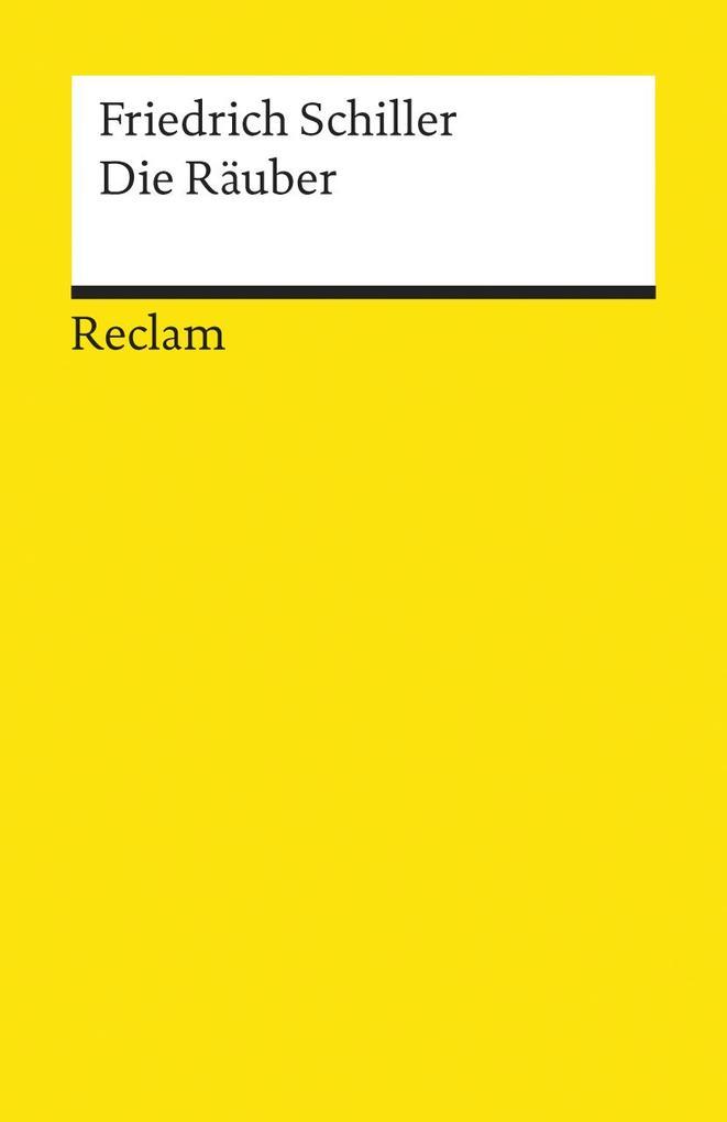 Die Räuber als Taschenbuch von Friedrich von Schiller