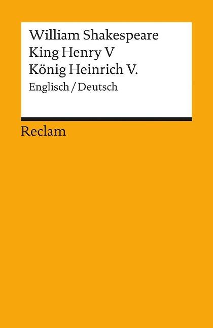 King Henry V / König Heinrich V. als Taschenbuch von William Shakespeare