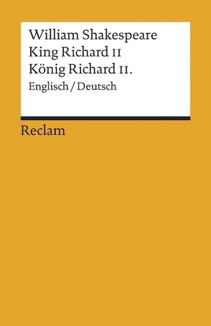 König Richard II. / King Richard II als Taschenbuch von William Shakespeare, Dieter Hamblock