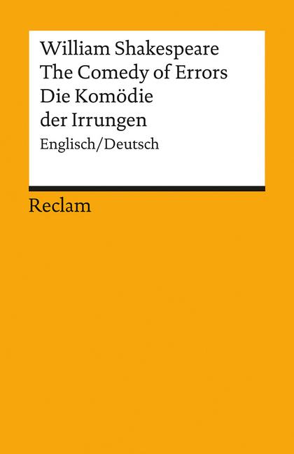 Die Komödie der Irrungen / The Comedy of Errors als Taschenbuch von William Shakespeare
