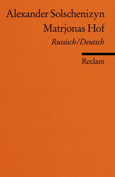 Matrjonas Hof als Taschenbuch von Alexander Solschenizyn