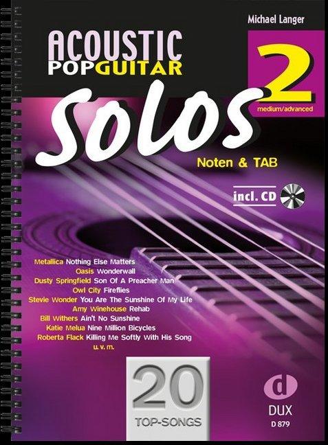 Acoustic Pop Guitar Solos 2 als Buch von Michael Langer