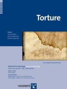 Torture. Zeitschrift für Psychologie als Buch von