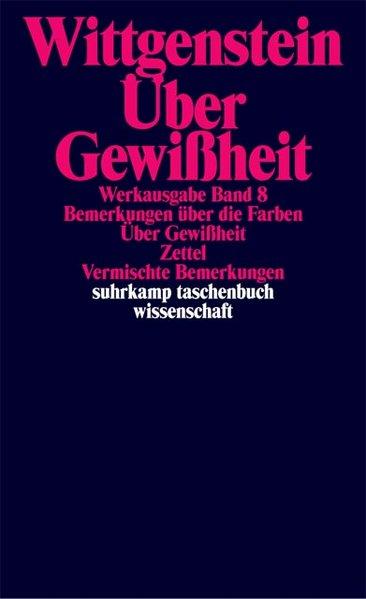 Über Gewißheit als Taschenbuch von Ludwig Wittg...