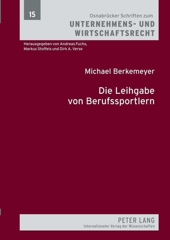 Die Leihgabe von Berufssportlern als Buch von M...