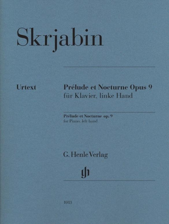 Prélude et Nocturne Opus 9 für Klavier, linke Hand als Buch von Alexander Skrjabin