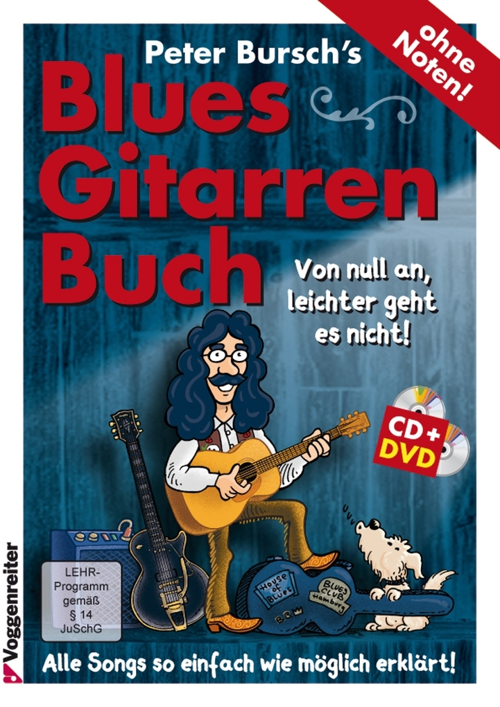 PB's Bluesgitarrenbuch (CD+DVD) als Buch von Peter Bursch