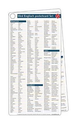 Medizinisches Englisch pocketcard Set als Buch von