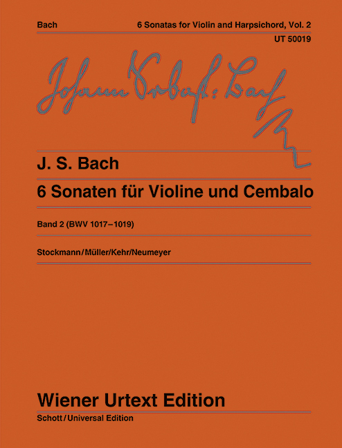 6 Sonaten als Buch von Johann Sebastian Bach