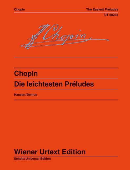 Die leichtesten Préludes als Buch von Frédéric Chopin