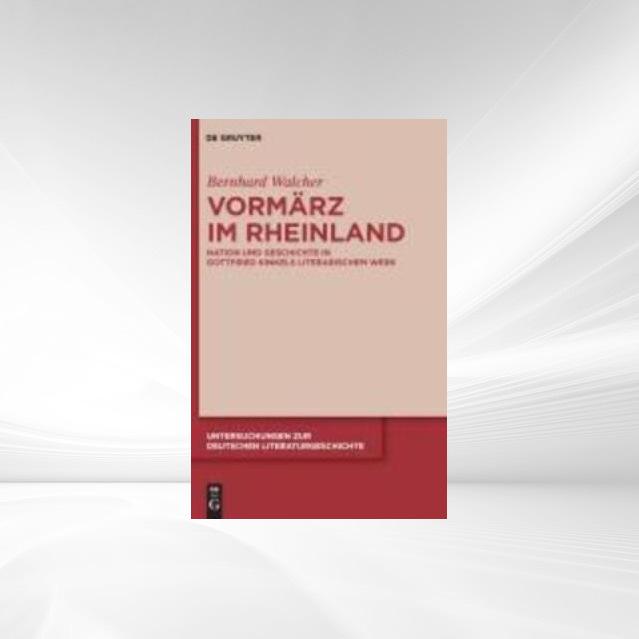 Vormärz im Rheinland als eBook von Bernhard Wal...