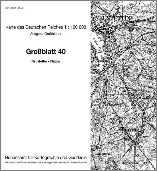 KDR 100 GB Neustettin - Pr. Friedland - Dt. Krone - Flatow als Buch von